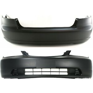 New Bumper Covers Facials Set Of 2 Front Rear Sedan Ho1000197 Ho1100200 Pair