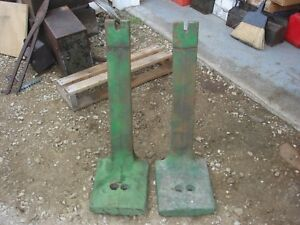Vintage John Deere 601 Tractor 4020 Side Weights Support Bars