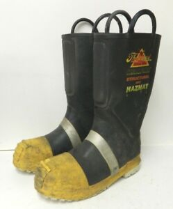 Thorogood Structural Hazmat Steel Toe Firefighter Fire Boots Size 10 Medium