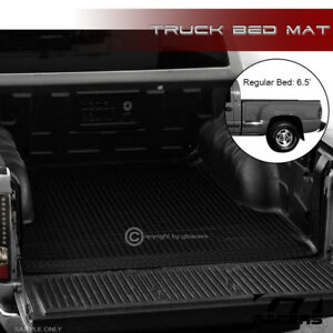 For 99 07 Silverado sierra Stepside 6 5 Blk Rubber Diamond Truck Bed Mat Liner