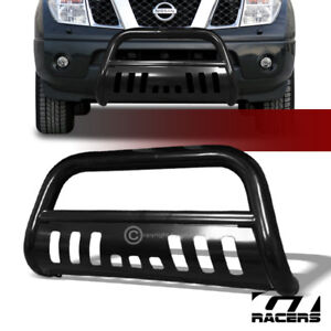 For 2005 2021 Nissan Frontier Blk Steel Bull Bar Brush Bumper Grill Grille Guard