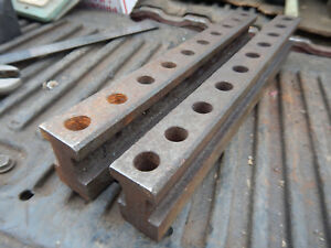 Set Of Large Rough Parallel Bars Machinist Jig Fixture Tooling