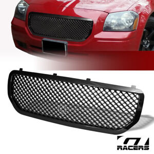 For 2005 2007 Dodge Magnum Black Luxury Mesh Front Bumper Grill Grille Guard Abs