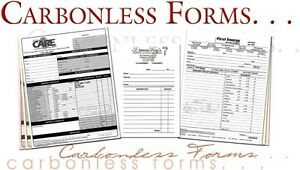 1000 Custom Business Forms Invoices Work Orders 2 Part Carbonless 5 5 X 8 5
