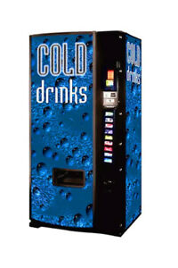 Dixie Narco Model 501e 12oz Can Cold Drink Bubble Vending Machine Refurbished