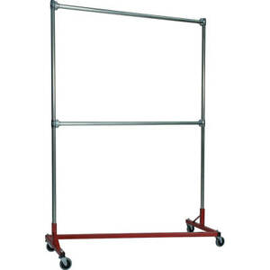 Z rack Heavy Duty Clothes Rack 60 L X 84 Uprights Double Rail Red 260842r
