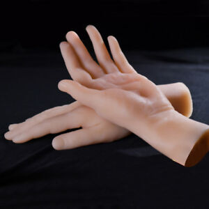 Lifelike Realistic Silicone Male Mannequin Hand Model Men Hand Skin Color