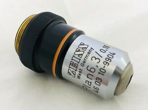 Zeiss Plan 6 3 0 16 Microscope Objective no 46 03 10 9904