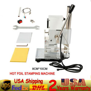 Wt 90as 300w 80x100mm Hot Stamping Area Manual Digital Hot Foil Stamping Machine