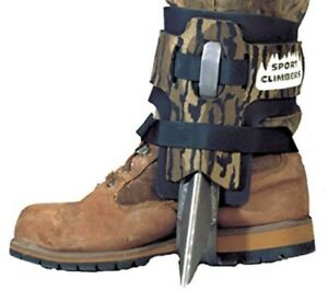 Steel Spur Tree Climbing Spikes shoes Straps Pair Forestry Treestand Hunting