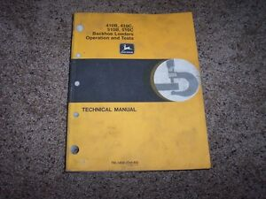 John Deere 410b 410c 510b 510c Backhoe Loader Shop Service Repair Manual Tm1468