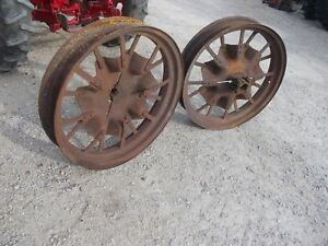 Mccormick Farmall F12 F14 Tractor Ih Rear Flat Spoke Rims