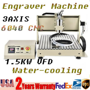 3 Axis Cnc 6040 Aluminium Alloy Lathe Structure Water cooling Engraving Machine