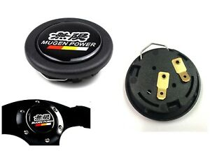 Mugen Car Horn Button Steering Wheel Center Cap Black