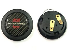 Mugen Car Horn Button Steering Wheel Center Cap Carbon Fiber