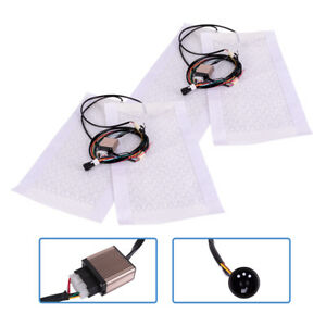 2pcs 12v Car Seat Heating Pad Carbon Fiber Heater With High Low Switch Ma1860
