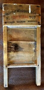 Vintage National Washboard Co No 797 Washboard 16 X 8 25 Chicago Saginaw Memphis