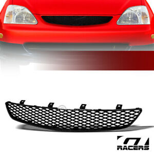 For 2002 2005 Honda Civic Si Ep3 Jdm Black Tr Mesh Front Bumper Grill Grille Abs