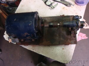 Small Oberdorfer Bronze Gear Pump W 1 3 Hp Ge Motor Positive Displacement