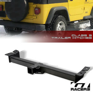 For 1997 2006 Wrangler Tj Class 3 Matte Blk Trailer Hitch Receiver Bumper Tow 2