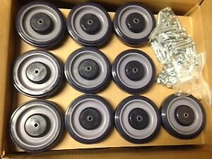 New Lot 30 5 Shopping Grocery Cart Wheels W Hardware Hq Mro Poly