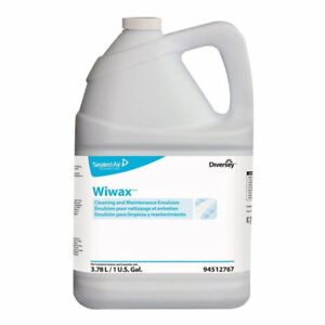 Diversey Wiwax Cleaning And Maintaining Emulsion 1 Gallon Bottle case Of 4
