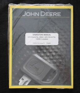 John Deere 4200 4300 4400 870 855 955 Tractor 410 420 Loader Operators Manual Mt