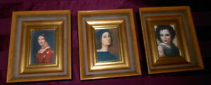 3 Deep Well Wood Picture Frames Shadow Box Gold Museum Art Repro S