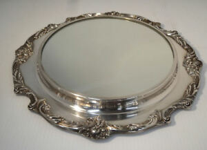 Reed Barton King Francis Silver Plated Centerpiece Table Plateau W Mirror