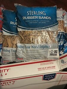 Lot 14 Bag new Rubber Bands 1 Lb Bag 14 Pound 2 30 E a Free Shipping