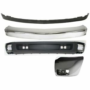 Bumper Kit For 2007 2008 Chevy Silverado 1500 Front Left New Body Style 4pc