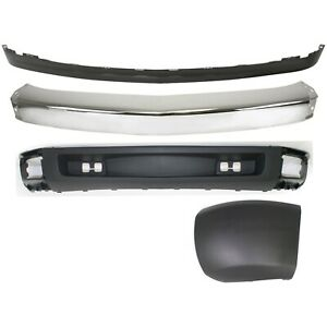 Bumper Kit For 2007 2008 Chevrolet Silverado 1500 Front Left 4 Piece