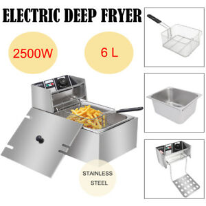 2500w 6 3qt Electric Deep Fryer Home Frying Cooking Machine Commercial 6l