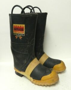 Servus Firefighter Safety Fire Boots Mens Size 9 5 Medium