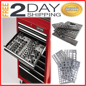 Craftsman Wrench Socket Organizer Set 6 tray Divider Holds 195 Storage Toolbox
