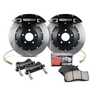 Stoptech Big Brake Kit Front St 40 Black Calipers Slotted For 05 06 Pontiac Gto
