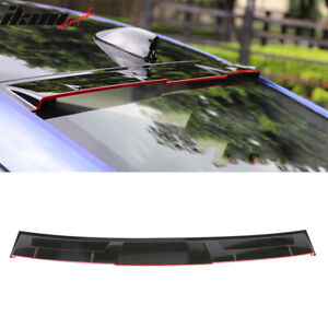 Fits 18 20 Honda Accord Ikon Style Roof Spoiler Gloss Black Red Lip Abs
