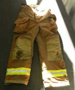 Janesville Lion Firefighter Turnout Gear Bunker Padded Pants Size 34l X 29