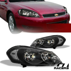 For 2006 2016 Chevy Impala limited monte Carlo Black Headlights Corner Signal Nb