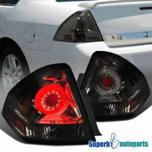 For 2006 2013 Chevy Impala Smoke Halo Led Drl Tail Lights Rear Brake Lamps