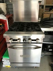 Royal 24 4 Burner Stove Gas Range Oven Nsf