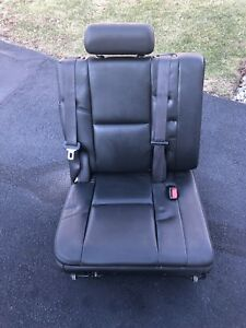 2007 2014 Left Perforated Escalade Row 3rd Seat Black Leather Tahoe Suburban