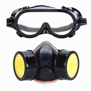 Mufly Respirator Full Face Safety Mask With Goggle Anti dust Paint Respirator