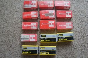 Lot of 14 Boxes of .35 Cal Reloading Bullets. Hornady Speer. Some Still Sealed.