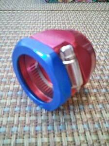Hose Clamp Heater Fitting For 3 4 I D Hose Qty 1 Red Blue Worm Gear 3360