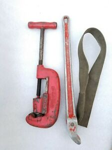 Reed 2 1 Pipe Cutter 1 8 2 Ridgid 5 Pipe Strap Usa Made Ready To Work
