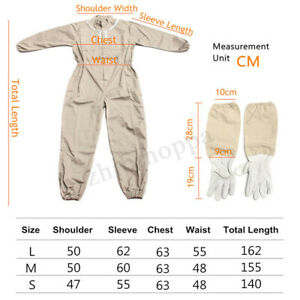 Full Body Beekeeping Bee Keeping Suit Jacket Pull Over Smock With Veil