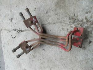 Farmall 300 350 Ih Tractor Pair Set Of Front Steel Hydraulic Lines Line Right