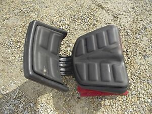 Farmall B Bn Ih Tractor Easy Rider Padded High Back Seat Assembly