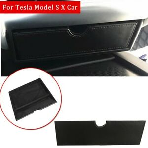 Center Console Storage Box Organizer Drawer Tray Cubby For Tesla Model X Model S